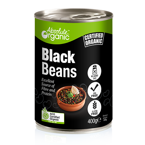 Black And Red >> Black Beans 400g   Absolute Organic