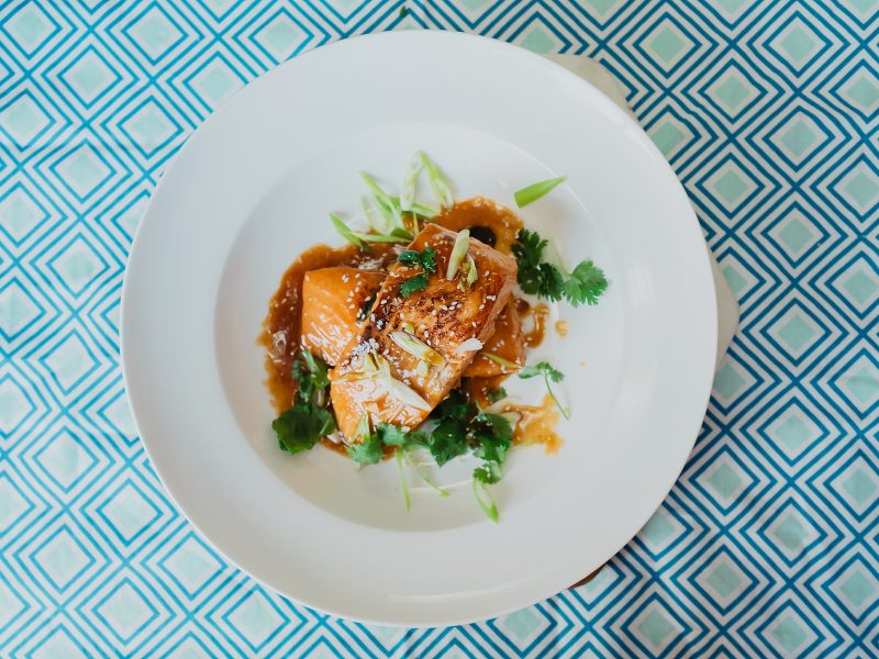 Thai style Salmon with Coconut Aminos & Honey Sauce