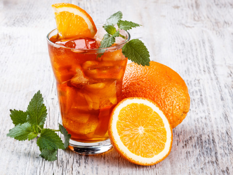 Citrusy Cold or Hot Tea