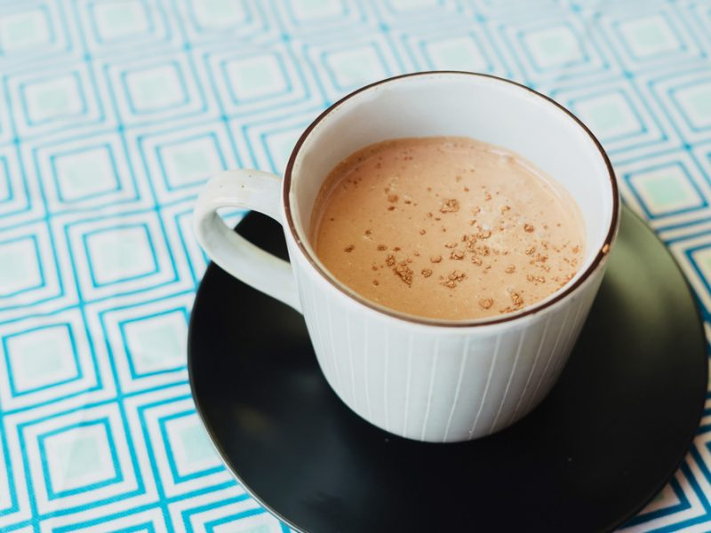 Coconutty Hot Chocolate with Chia Oil