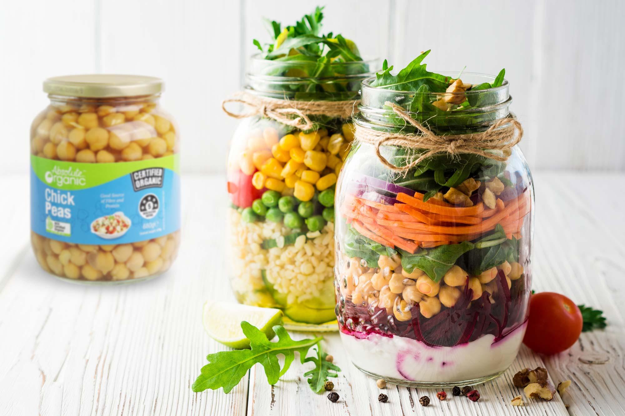 Raw Salad Jars