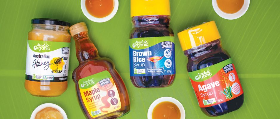sweeteners-honey-maplesyrup-agave-brown-rice-syrup