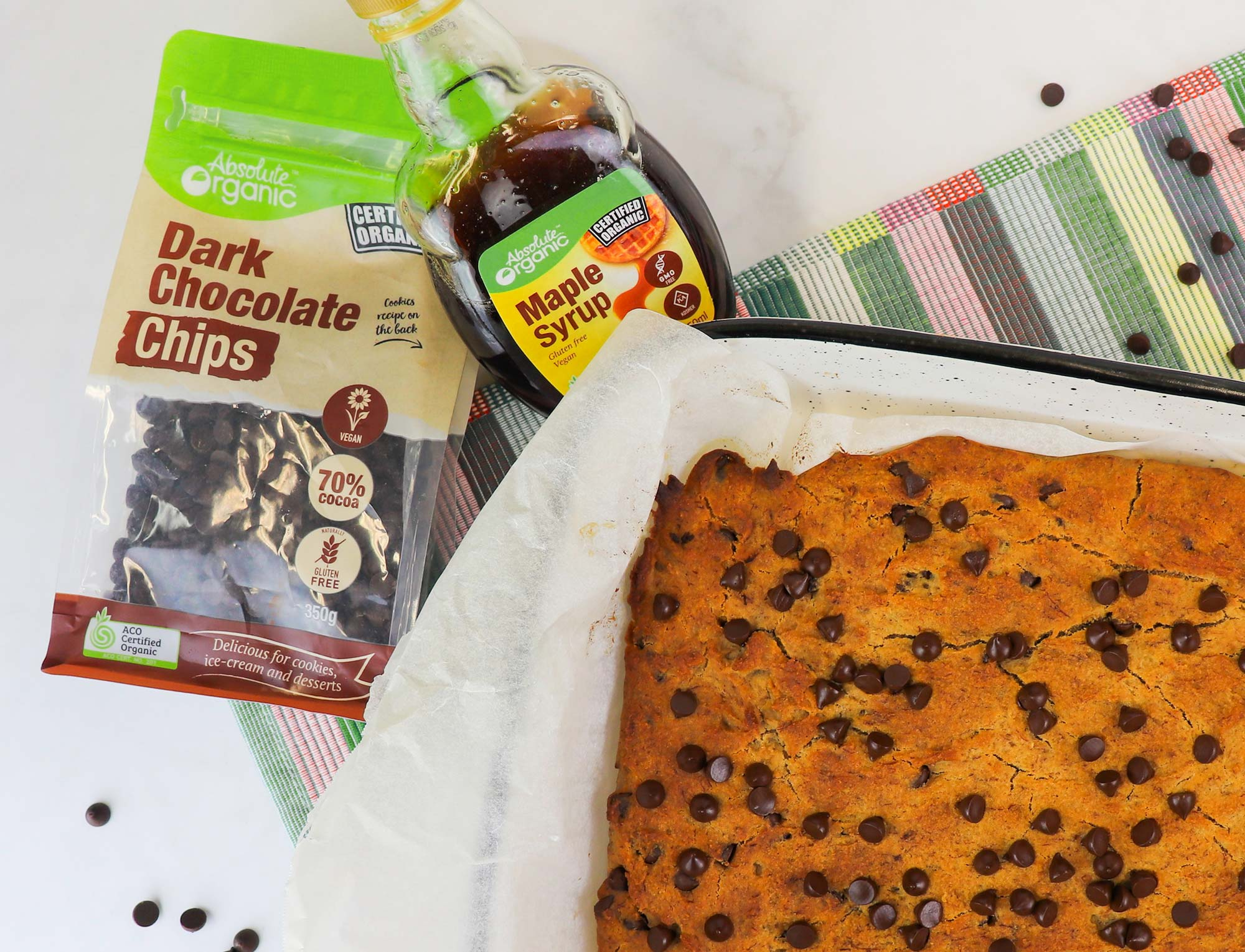 Vegan Banana Choc Chip Cake