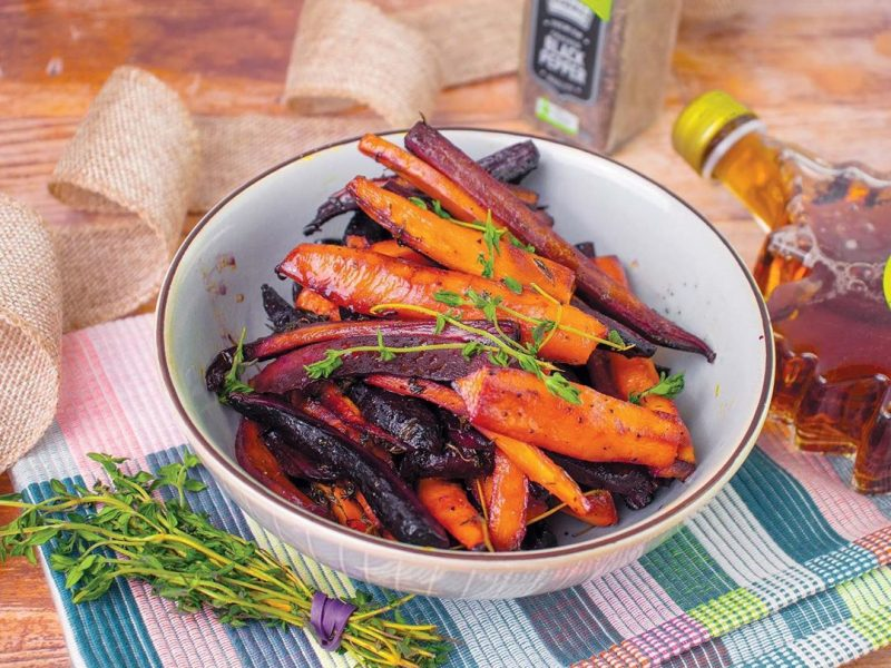 Roasted Carrots with Maple Syrup
